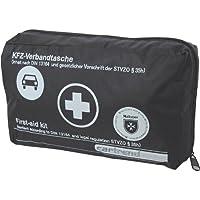 Cartrend 7730043 Verbandtasche, schwarz, DIN 13164, mit Malteser Erste-Hilfe-Sofortmaßnahmen