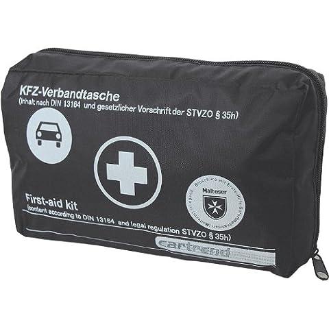Cartrend 7730043 - Kit de primeros auxilios con cierre de velcro (DIN 13164), color rojo