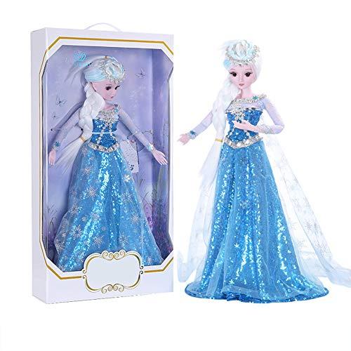 MEMIND Bjd Nach Maß Puppe Blaues Kleid 60 cm Dress Up Prinzessin Puppe Anzug Große Geschenkbox Gemeinsame Puppe Kind Spielkamerad Mädchen Spielzeug Puppe Geschenk