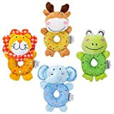 tumama Plush Baby Soft Rattles Newborn Baby Toys 0-12 Months Gift Set 4PCS