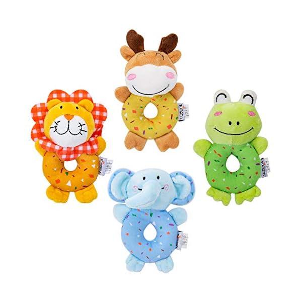 tumama Plush Baby Soft Rattles Newborn Baby Toys 0-12 Months Gift Set 4PCS 1