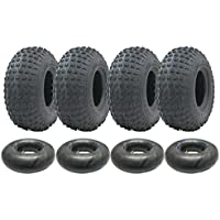 Parnells 4-145/70-6 - Juego de neumáticos y cámaras de Cuatro Ruedas 50cc 90cc 110cc 75 kgs - Neumático Wanda P319 Quad