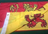 5FT X 3FT OWAIN GLYNDWR DOUBLE STITCHED FLAG [Misc.]
