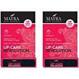 Matra SPF And Moroccan Gold Infused 100% Natural Lip Balm, Strawberry, 4.5g (Pack Of 2)