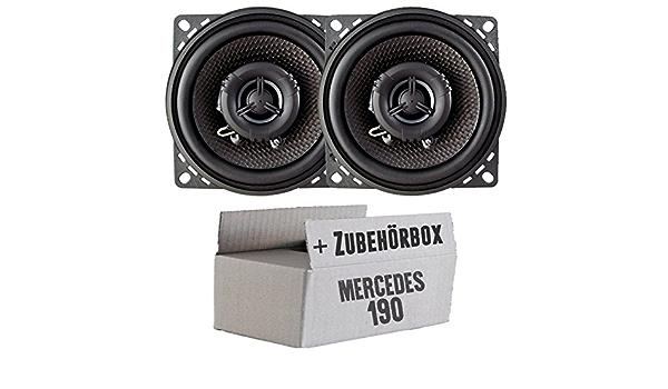 Ampire Cp100 10cm Lautsprecher 2 Wege Koaxialsystem Einbauset Für Mercedes 190 W201 Front Just Sound Best Choice For Caraudio Navigation