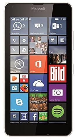 Microsoft Lumia 640 Smartphone débloqué 3G (Ecran : 5 pouces - 8 Go - Double SIM - Windows Phone 8.1) Blanc (import