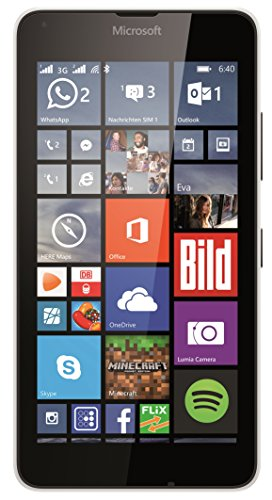 "Microsoft Lumia 640 - Smartphone libre Windows Phone (pantalla 5"", 8 GB, Quad-Core 1.2 GHz, 1 GB RAM), blanco"