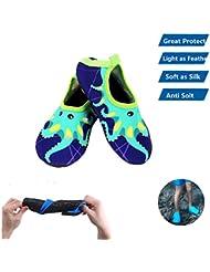 Agua Calcetines Niños Cute antideslizante Swim zapatos niño playa pies Protector infantil piel calcetines piscina Yoga buceo, Pulpo