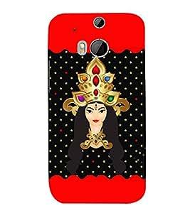 Fuson Designer Back Case Cover for HTC One M8 :: HTC M8 :: HTC One M8 Eye :: HTC One M8 Dual Sim :: HTC One M8s ( Godess Maa Durga Devi Aadya Amba )