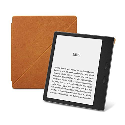 Amazon-Schützhülle aus Premiumleder mit Standfunktion für Kindle Oasis (9. Generation - 2017 Modell), Naturleder