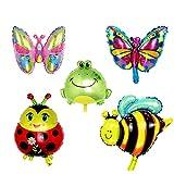 ED-Lumos 5pcs Folienballons für Kinder Baby Ballon Insekt Party Geburtstagsgeschenk Dekoration Spielzeug