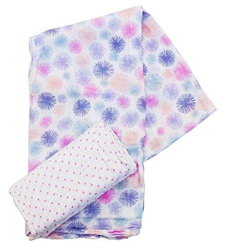 plum-colecciones-toallitas-plaza-beb-muselina-de-algodn-2-uds-tamao-xl-pink-rosa-110-x-110-cm