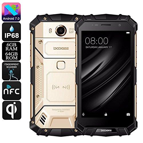 DOOGEE S60 - 5.2 pulgadas FHD Impermeable / A prueba de golpes / A prueba de polvo 4G Smartphone, 5580mAh batería 12V2A Carga rápida (soporte de carga inalámbrica), Helio P25 2.5GHz Octa Core 6 GB 64 GB, 21.0MP Cámara NFC GPS Metal Frame - Oro