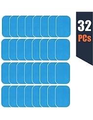 zociko EMS Gel Pad, Abs Entraîner Replacement Gel Feuille, Feuille de Gel de Rechange de Formateur de boursouflure d'EMS, 32 Feuille de Gel de Gel(2 pcs/Paquet, 16 Paquet)
