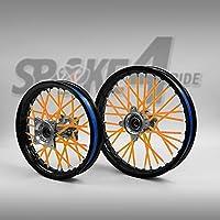 Cubre radios Naranja Rayos Spoke Skins Motocross llanta enduro rueda moto