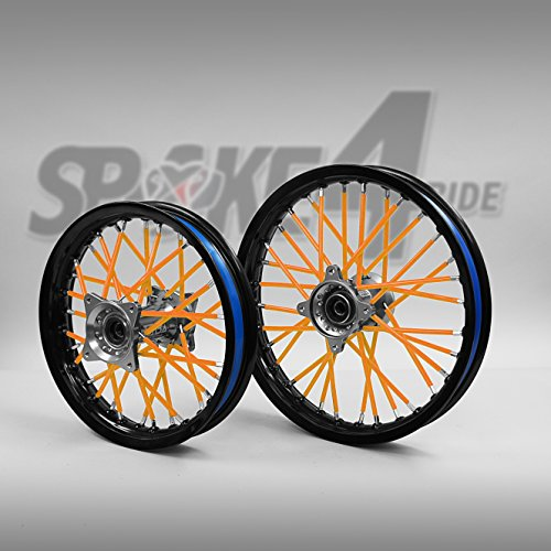 Speichencover Orange - Spoke Tubes - Speichen Cover - Speichen Überzug- Spoke Skins Motocross Enduro-Felgen Rad Motorrad