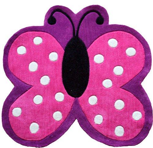 childrens-tappeto-con-farfalla-a-pois-90-cm-x-90-cm-x-75-cm-circa-93uk-mainland-delivery-only-non-ei