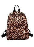 HCFKJ Tasche, Frauen Rucksack Leopard Plüsch Rucksack personalisierte Studententasche (BW)