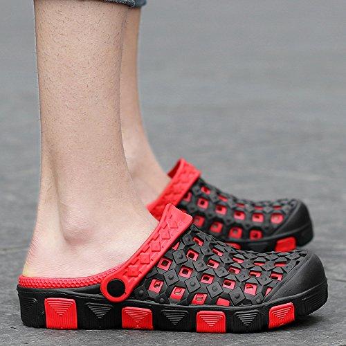 En été, Baotou, chaussons chaussures trou, amoureux paresseux, cool, la moitié de la RDP RDP, chaussures antidérapantes pour hommes sandales de plage, salle de bains, gules