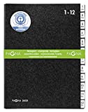 Pagna Pultordner 1-12 12-teilig schwarz