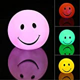 nuohuilekeji Creative Cute Smile Smiling Face Farbwechsel Schlafzimmer LED-Nachtlicht Lampe