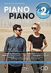 Piano Piano Chart Hits 2 mit CD: Aktuelle Chart Hits in 2 Versionen: Leicht und mittelschwer arrangiert