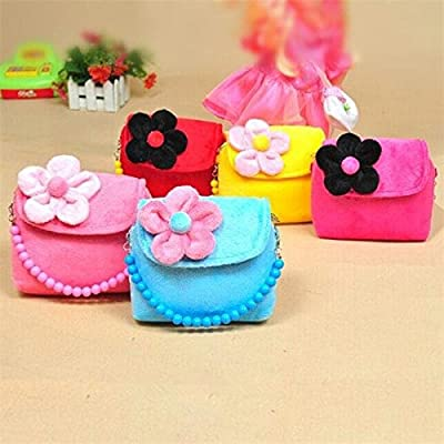 easyshop Strap Children Girls Princess Package Messenger Single Purse Shoulder Bags Kids Handbag Flower Mini Cute Coin