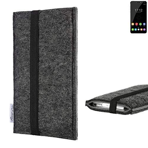 flat.design Handyhülle Lagoa für Oukitel U11 Plus   Farbe: anthrazit/grau   Smartphone-Tasche aus Filz   Handy Schutzhülle  Handytasche Made in Germany