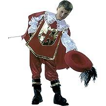 Rubie's - Disfraz de mosquetero D'Artagnan, con sombrero, para niños, talla M (S8111-M)