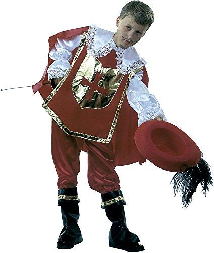Imagen de rubie's  disfraz de mosquetero d'artagnan, con sombrero, para niños, talla m s8111 m