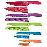 G.a HOMEFAVOR Messerset 5-tlg. inkl Klingenschutz mit Komfortabel Griff in Geschenkbox