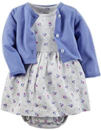 Carter's Baby Girls' 2 Piece Dress Set - Lilac/Floral - 3 Months