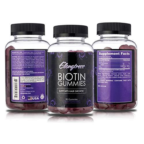 Biotin 5,000mcg Max Stärke - 100 Biotin Kapseln pro Flasche - Biotin für das Haarwachstum verwenden - Wachsen Haare schneller mit Biotin Vitamine