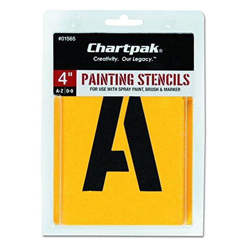 blonen Buchstaben und Zahlen A-Z und 0-9, 5,1 cm H, 35 Stück (01555) 4 Inches gelb ()