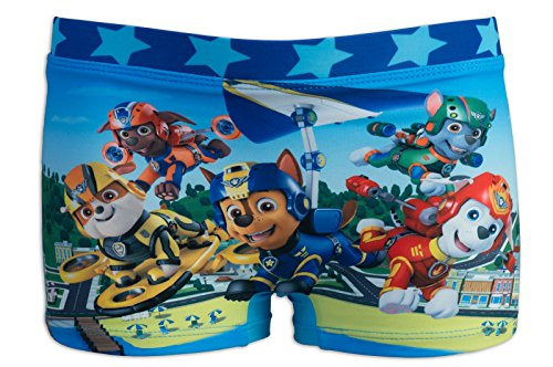 Paw patrol - costume costumino 1 pz boxer full print - mare piscina - bambino - novità prodotto originale 2481re [azzurro - 4 anni - 104 cm]