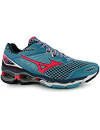 Mizuno Wave Creation 18 Zapatillas de running para mujer Grn/rojo/BLK Trainers zapatillas deportivas, Green/Red/Black