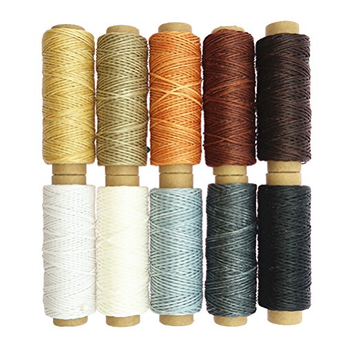 Healifty 10 unids hilo cera coser artesanía plana