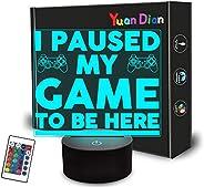 أنا وقفت لعبتي أن أكون هنا ، ضوء ليلي مضحك للرجال، هدايا فكاهة ألعاب الفيديو للمراهقين ، مصباح وهمي ثلاثي الأب