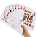 Goods & Gadgets Jumbo Cartes de Poker XXL – Jeu de Cartes géantes avec 52 Cartes