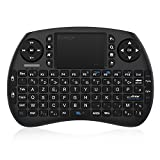 EgoIggo Mini Clavier (AZERTY) Sans Fils avec Touchpad, Mini Clavier Wireless Télécommande- compatible avec Raspberry Pi 3, Android tv box, mini PC, Ordinateur Portable, Projecteur