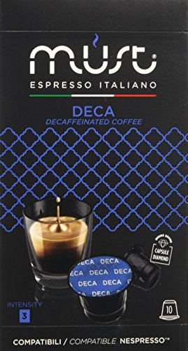 Must espresso italiano 100 capsule compatibili nespresso deca - 10 confezioni da 10 capsule