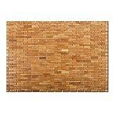 Casa Pura® Mia Badteppich, aus Bambus, Saunateppich, 2Farben, 60x 90cm, rutschfeste Unterseite, natur, 60 x 90 cm