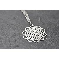 Kette Blume des Lebens Flower of Life Mandala Mantra 1