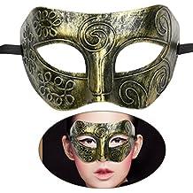 TINKSKY Mens travestimento maschera viso maschera maschere veneziane per Fancy Dress Ball sfera mascherata Halloween dorato