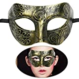 TINKSKY Mens mascarade masque visage masque masques vénitiens pour Déguisements Bal Bal masqué Halloween Golden