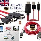 1080P MHL Micro USB HDMI HDTV Adapter Kabel für Samsung Galaxy S3S4S5Note 2, 3