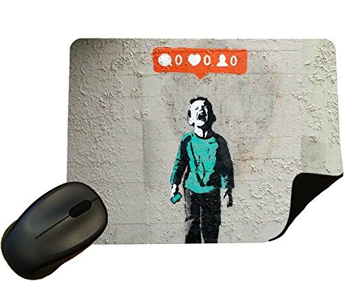 Preisvergleich Produktbild Banksy No Likes Mouse Mat / Pad - By Eclipse Gift Ideas