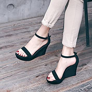 SHOESHAOGE Summer Slope With Sandals With A Thick Soles Of The Soles Of WomenS Shoes With High Heel Female Roman