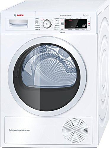 Bosch WTW875ECO Serie 8  Wärmepumpentrockner / A+++ / 8 kg / Selbstreinigender Kondensator / weiß-schwarzgrau