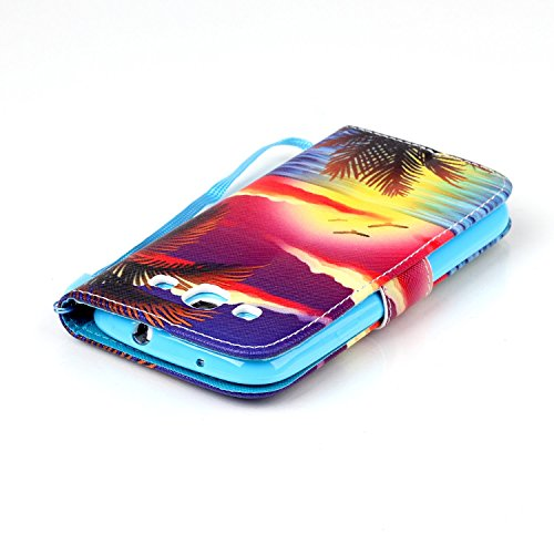 Meet de Samsung Galaxy S3 i9300 i9305 Bookstyle Étui Housse étui coque Case Cover smart flip cuir Case à rabat pour Galaxy S3 i9300 i9305 Coque de protection Portefeuille - this iphone is locked slide Hawaii
